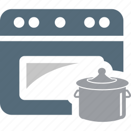cooking, cooking pot, cooking range, oven, stove icon