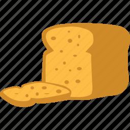 bread, breakfast, food, toast icon