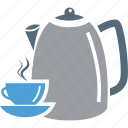 cup, cup and saucer, kettle, tea, teapot icon