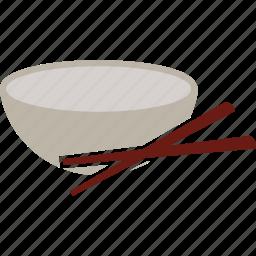 bowl, chopsticks, food, noodles, spoon icon