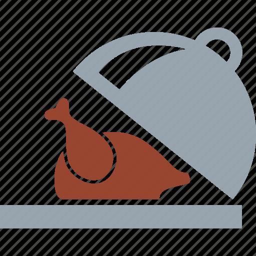 chicken, food, platter, roasted chicken, roasted turkey, turkey icon