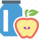 apple, apple jam, breakfast, food, jam icon
