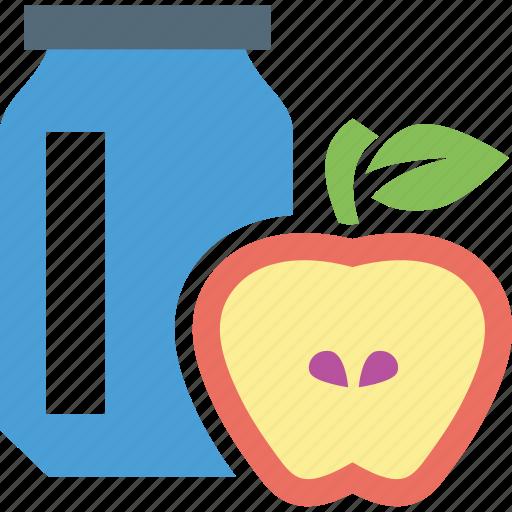 apple, apple jam, breakfast, food, jam icon