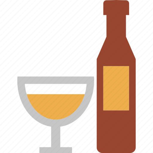 alcohol, beer, bottle and glass, drink, wine, wine bottle icon