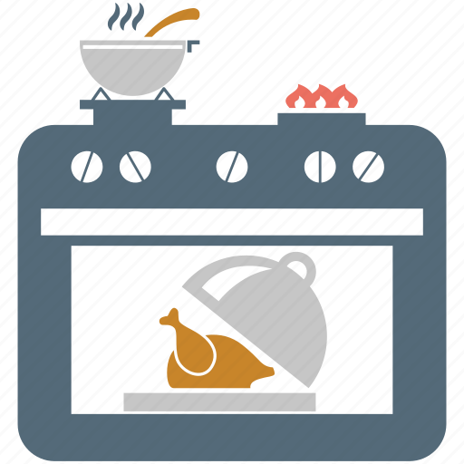 cooking, cooking range, kitchen, oven, roasting, stove icon