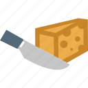 cake, cutting cake, dessert, food, knife, slice, sweet icon