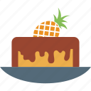 cake, dessert, food, pineapple, pineapple cake, sweet icon