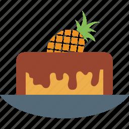 cake, dessert, food, pineapple, pineapple cake, sweet icon