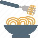 eating, food, fork, kitchen, noodles icon