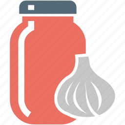bottle, food, garlic, garlic sauce, jar, sauce icon