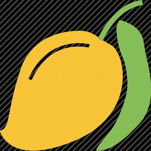 fresh, fruit, mango, mango with leaf icon
