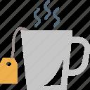 hot tea, hot teacup, tea, tea bag, tea cup