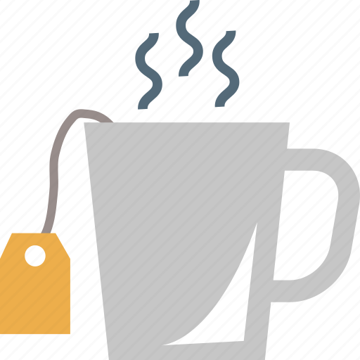 hot tea, hot teacup, tea, tea bag, tea cup icon