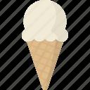 ice, cream, ice cream cone, ice cream, cone icon