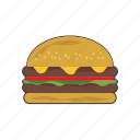 burger, cheeseburger icon
