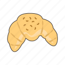 croissant, pastry