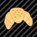 croissant, pastry icon