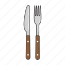 fork, knife icon