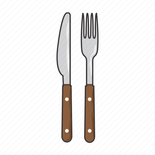 fork, knife icon