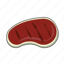 grill, meat, steak icon