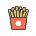 chips, fast food, fastfood, french fries, junk food icon