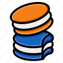 bakery, french, macaron, biscuit, macaroon icon