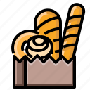 bake, bakery, bread, loaf, pastry, wheat icon