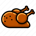 chicken, fried, grilled, meat, roast icon