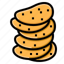 chips, crispy, fried, potato, snack icon