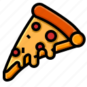 cheese, italian, mozzarella, pizza, slice icon