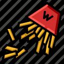 french, fry, junk, potato, unhealthy icon