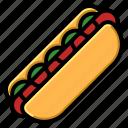 dog, hot, ketchup, mustard, sausage icon