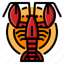 claw, dish, lobster, seafood, shellfish icon