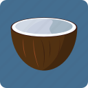 coconut, food, fruit, juice, milk, nutrition icon