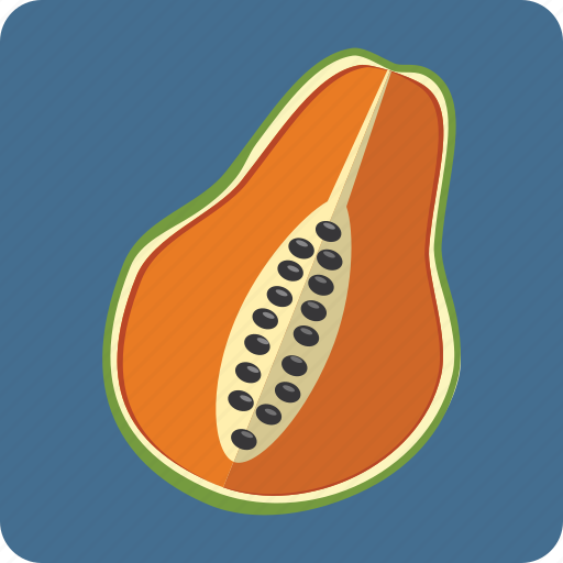 exotic, food, fresh, fruit, nutrition, papaya, vegetarian icon