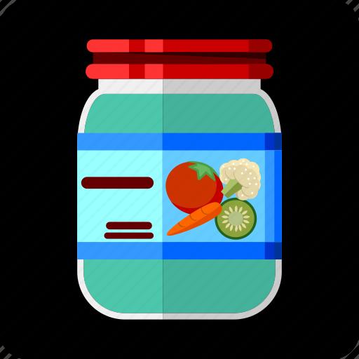 assortment, cauliflower, conserved, food, jar, marinated, pickled icon