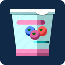 blueberry, breakfast, diet, food, fruit, sweet, yogurt icon