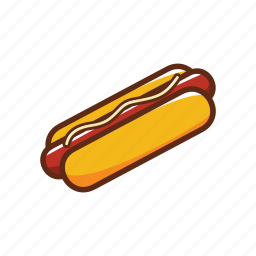 bread, fast food, food, hot dog, sausage icon