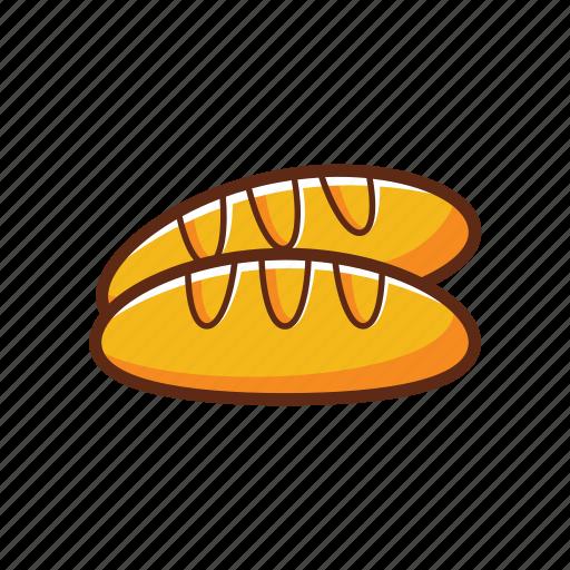 bread, breakfast, food icon