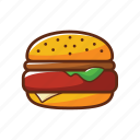 american food, burger, fast food, food, hamburger icon