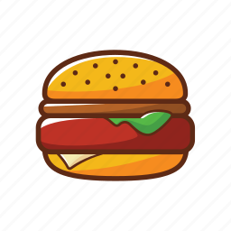 american food, burger, fast food, food, hamburger icon