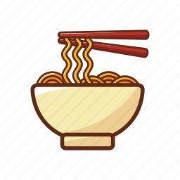 bowl, food, japanese food, noodles, ramen icon