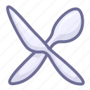 cutlery, fork, spoon icon