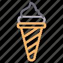 cone, cream, ice, lolly, sweet