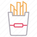 chips, food, fries, potatoes, snack icon