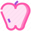 apple, food, fruit, health, meat icon