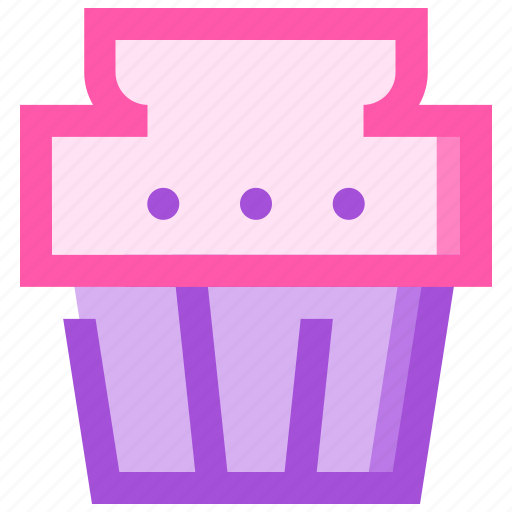 cupcake, food, fruit, health, meat icon