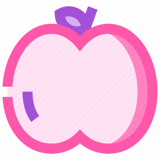 food, fruit, health, meat, peach icon