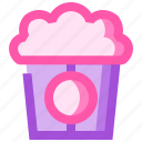 food, fruit, health, meat, popcorn icon