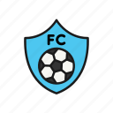 badge, club, football, shield, soccer, team icon